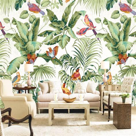 custom mural wallpaper european style tropical rainforest