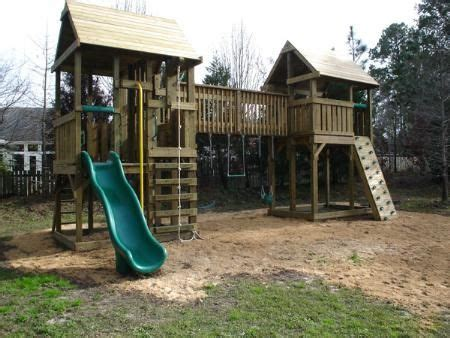playset fort plans home walkway bridge swing set