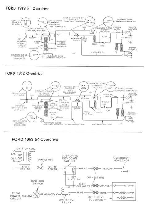 1949 Ford Turn Signal Wiring Diagram by Wiring For 1949 54 Ford Car Overdrive Wiring