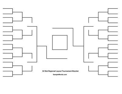 printable  team tournament bracket