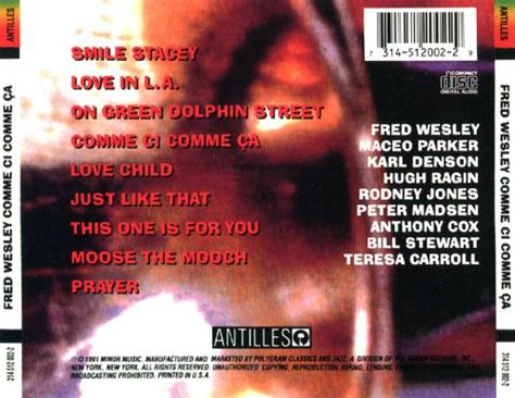Comme Ci Comme Ca Fred Wesley Songs Reviews Credits