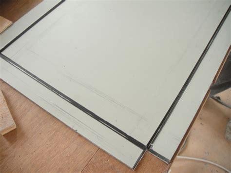 bureau aluminium installation des panneaux composite aluminium