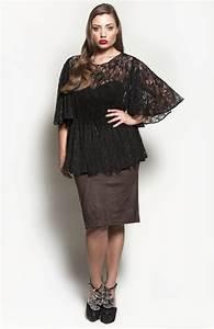 Black Lace Plus Size Blouse - Peach Sleeveless Blouse