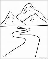 Road Pages Mountain Coloring Foot Print Printable sketch template