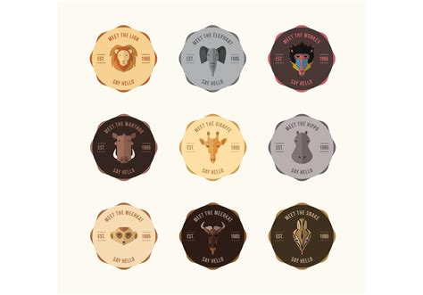 vector animal badge vectors   vector art