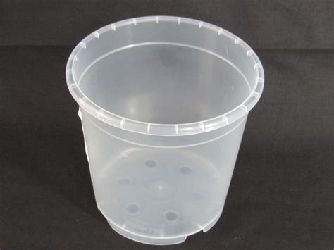 pot transparent pour orchidee tr 232 fle vert