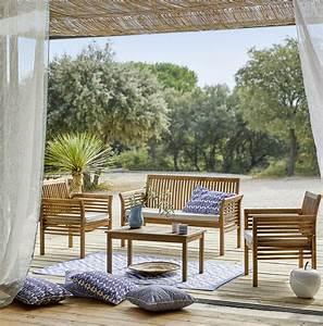 Mobilier Jardin Carrefour : beautiful salon de jardin bois carrefour ideas awesome interior home satellite ~ Teatrodelosmanantiales.com Idées de Décoration