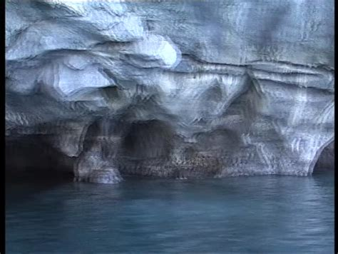 marble caves general carrera lake chile stock footage