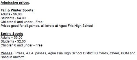 agua fria high school homepage