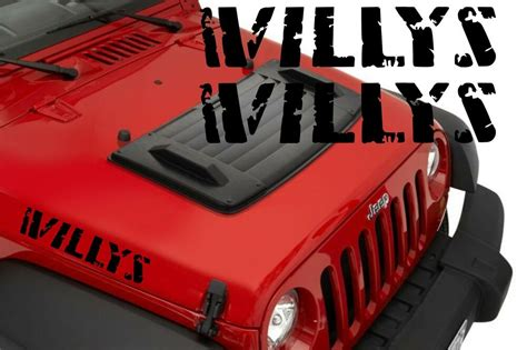 2x jeep wrangler willys decal stickers graphics ebay