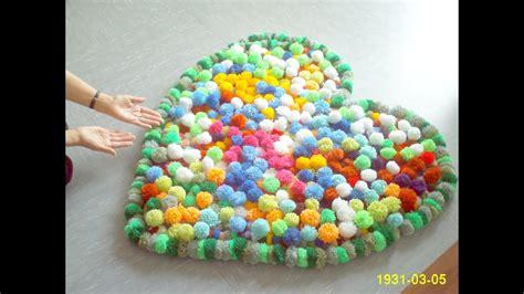 Pom Pom Teppich Diy Bobble Pompom Carpet Bommel Teppich Alfombra Tapete Halı