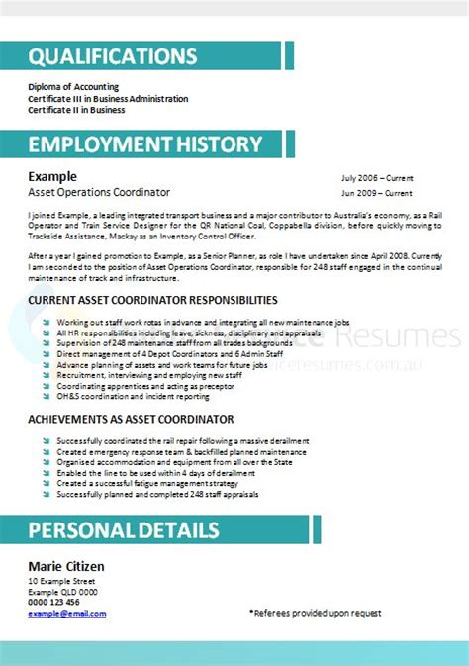 professional resume writers brisbane professional resume