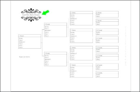 Four Generation Family Tree Template Free Free Family Tree Templates Editable Template Word 4