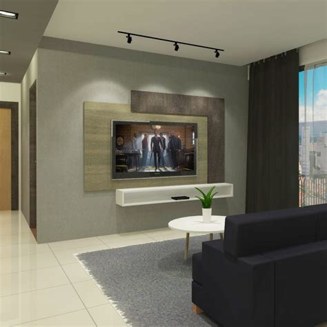 L Frame TV Feature Wall, Furniture, Others on Carousell