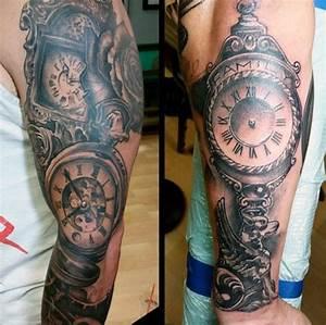 80 Clock Tattoo Designs For Men - Timeless Ink Ideas