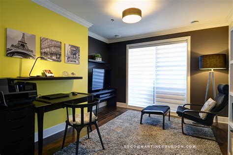 le bureau jaune color blockmartine bourdon décoratrice d 39 intérieur