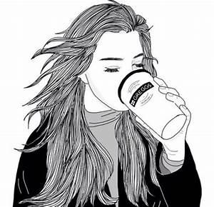 Dessin Fille Noir Et Blanc Pinterest