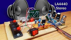 How To Make Amplifier Stereo Using Ic La4440 With 4558 Ic