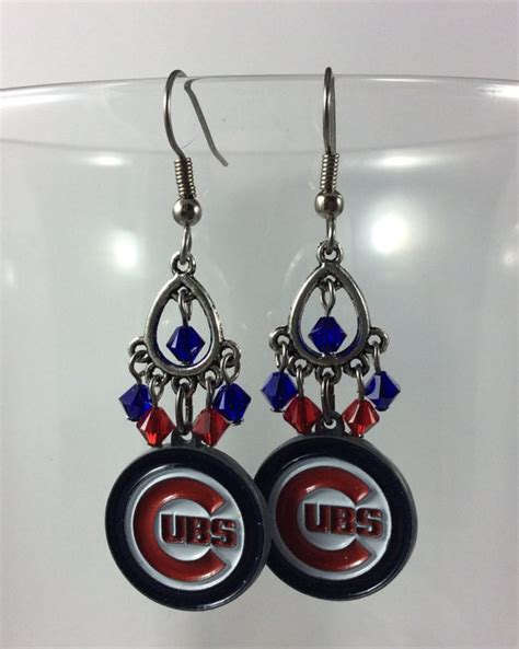 gifts for cubs fans chicago cubs earrings cubs fan gift cubs earrings