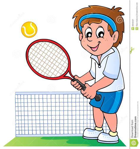 joueur de tennis de dessin anime image stock image