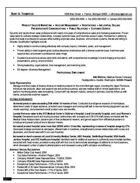 Sle Of A Resume Format by Resume Format For Fmcg Sales Executive Free Sles