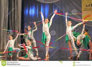 Gymnastic Performance With Ribbons Editorial Photo - Image ...