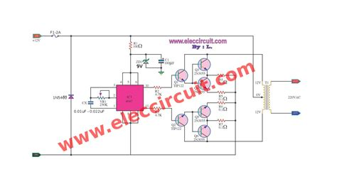 cd inverter circuit   vdc  vac