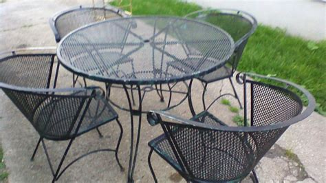 Rare Antique  Piece Scrolled Wrought Iron  Ee  Outdoor Ee   Patio