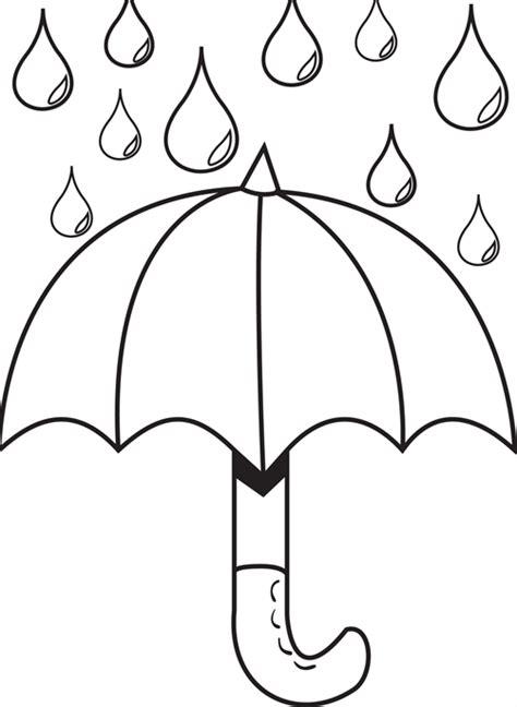 umbrella pencil coloring coloring pages