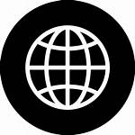 Globe Icon Circle Language Global International Icons