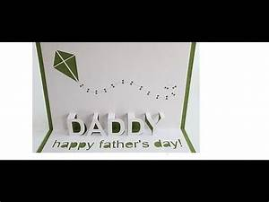 Happy Father's Day Pop Up Card Tutorial #2 - YouTube