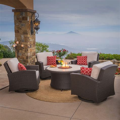 santa fe 5pc motion chat set with table mission