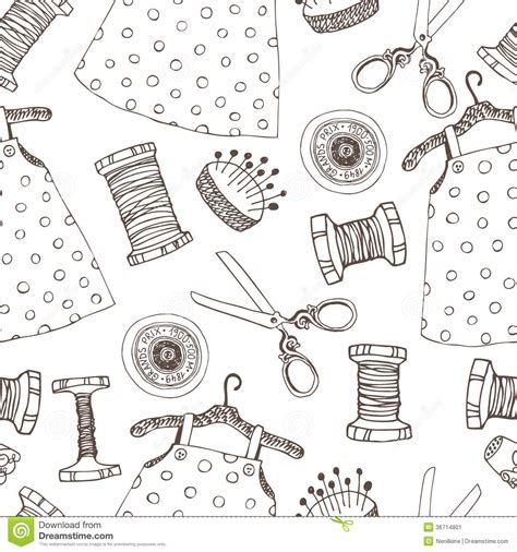 Sewing Seamless Background Stock Image  Image 36714801
