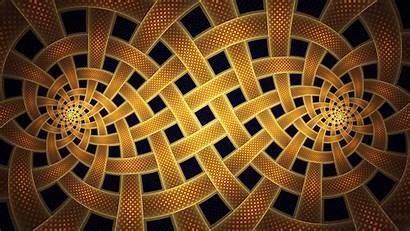 Spiral Fractal Abstract Square Gold Minimalism Digital