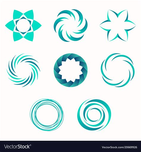 Abstract Organic Shapes Design by Abstract Geometric Shapes Symbols For Your Design Vector Image