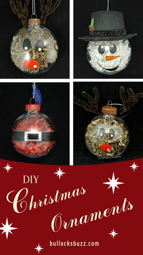 diy christmas ornaments crinkle paper shreds character