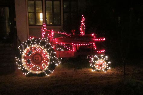 tractor christmas tree lights 744 on the streets metro to mountain journal