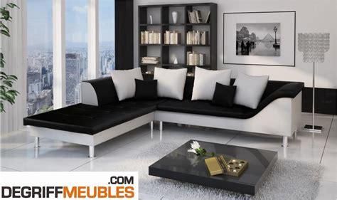 photos canapé d 39 angle cuir blanc et noir