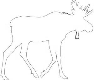 Moose Silhouette Outline Printable