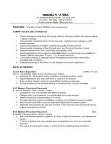 resume for early childhood educator early childhood education resume sles sle resumes