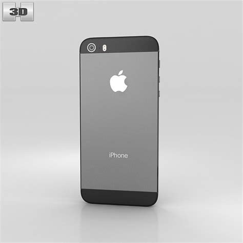 grey iphone 5s apple iphone 5s space gray black 3d model humster3d
