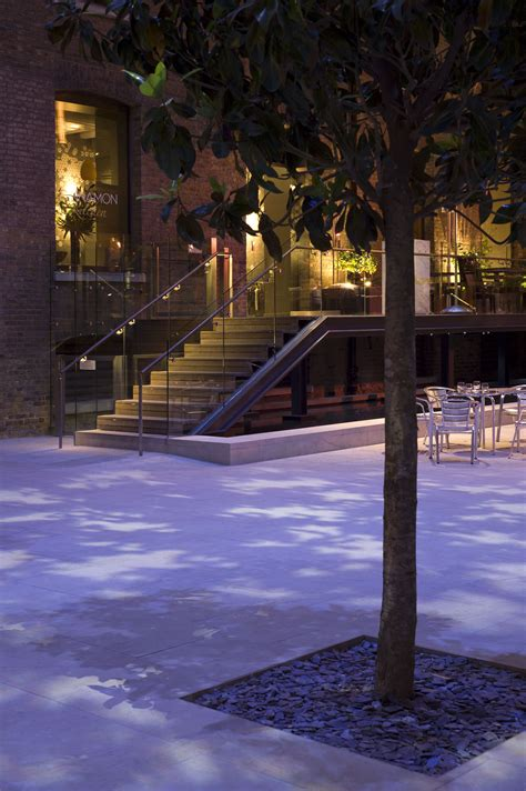 exterior gobo lighting to replicate shadows of trees