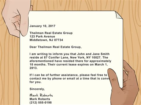 write  letter showing proof  residence