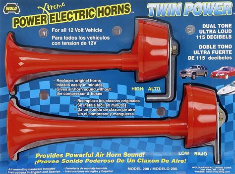 Wolo Electric Horns For Cars Trucks Boats