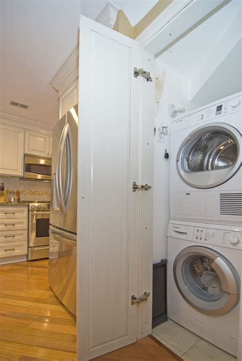 laundry closet doors laundry room with stackable washer