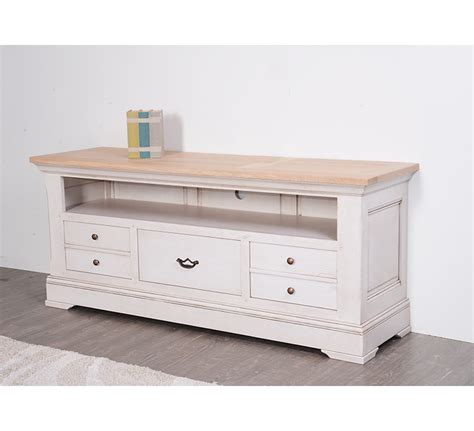 canapé bois tissu meuble télé chene massif 4947