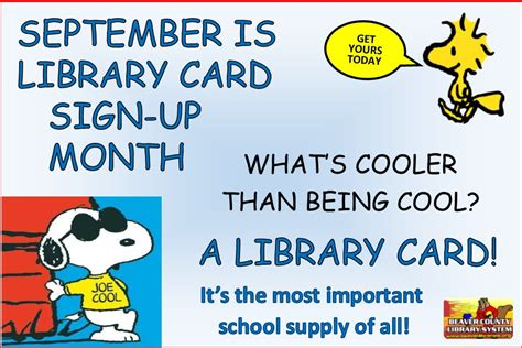 September Is Library Card Signup Month!  United Way Of