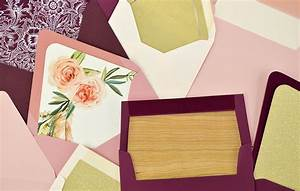 how to diy envelope liners for your wedding invitations With simple diy wedding invitation envelope liners