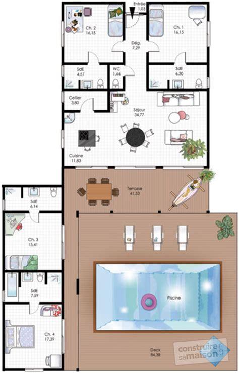 plan interieur maison plain pied maison familiale de plain pied d 233 du plan de maison familiale de plain pied faire