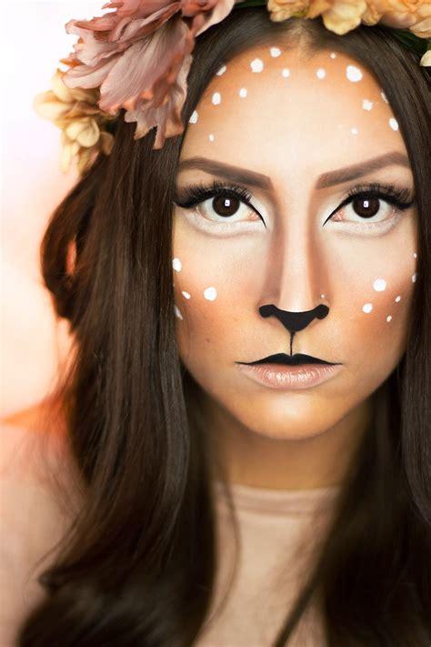 karneval kostüm reh in einfachen schriften zum reh schminken karneval